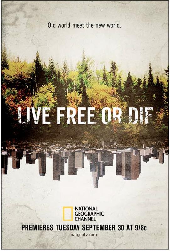 Live Free or Die landscape sketch